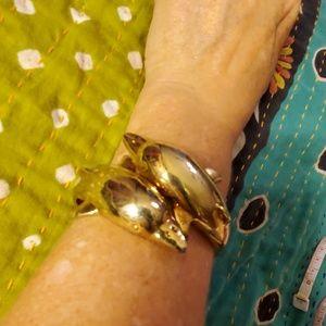 Whimsical dolphin bracelet.